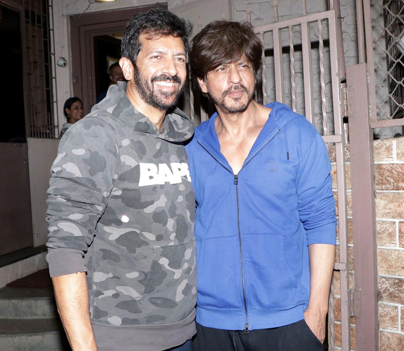 SRK clicked at a dubbing studio