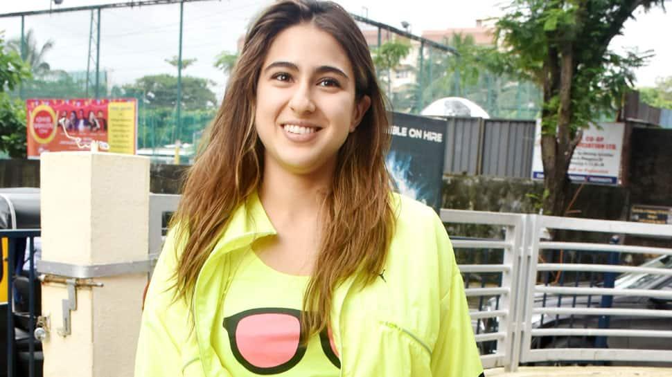 Sara Ali Khan's neon-green jacket and million dollar smile takes the spotlight—Pics