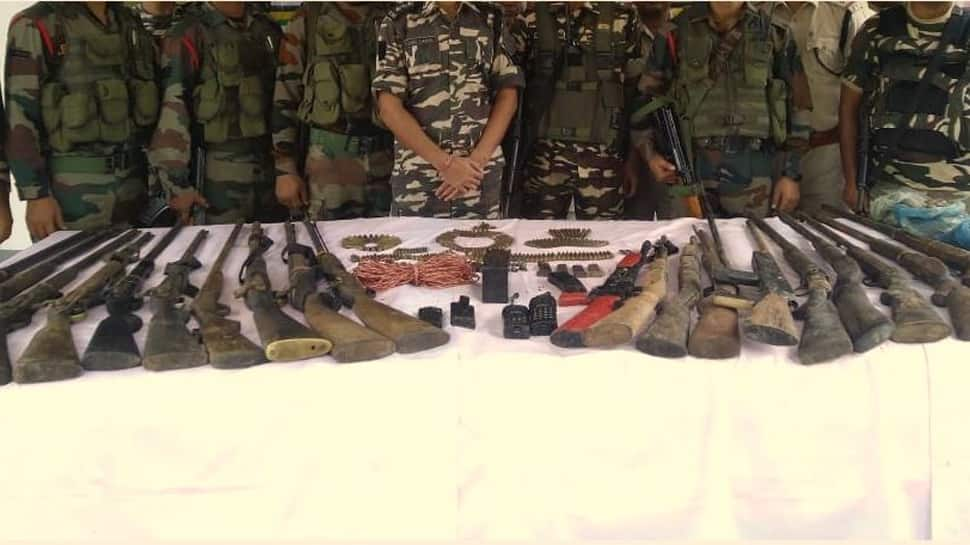 Huge cache of arms, ammunition and explosives recovered in Assam