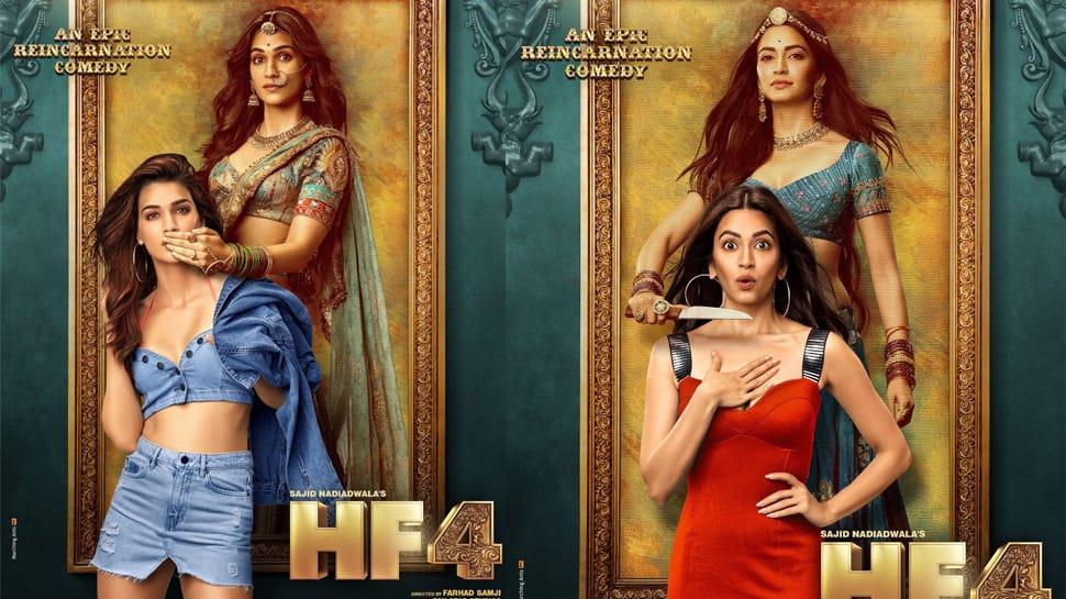 Housefull 4: Kriti Sanon, Pooja Hegde and Kriti Kharbanda's first look out—Pics