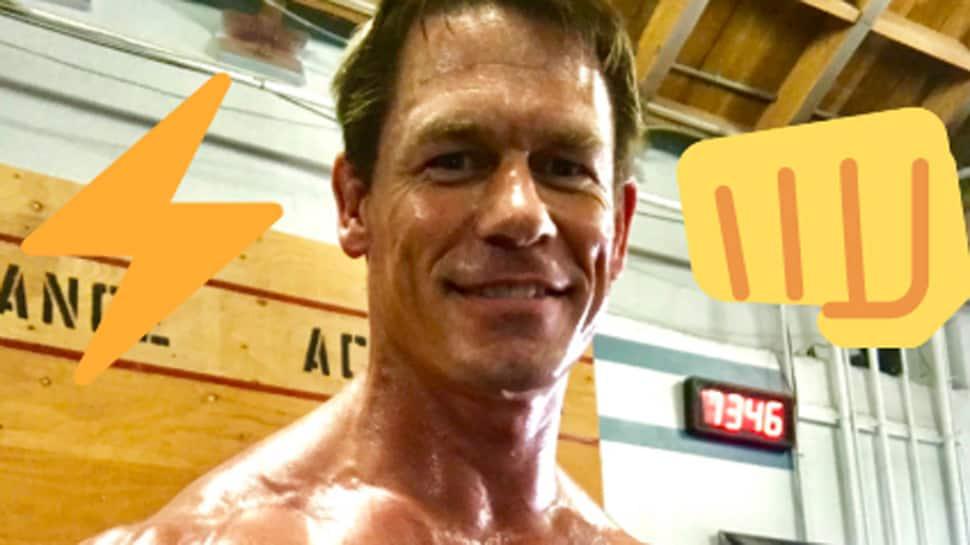 John Cena spotted in prosthetic make-up