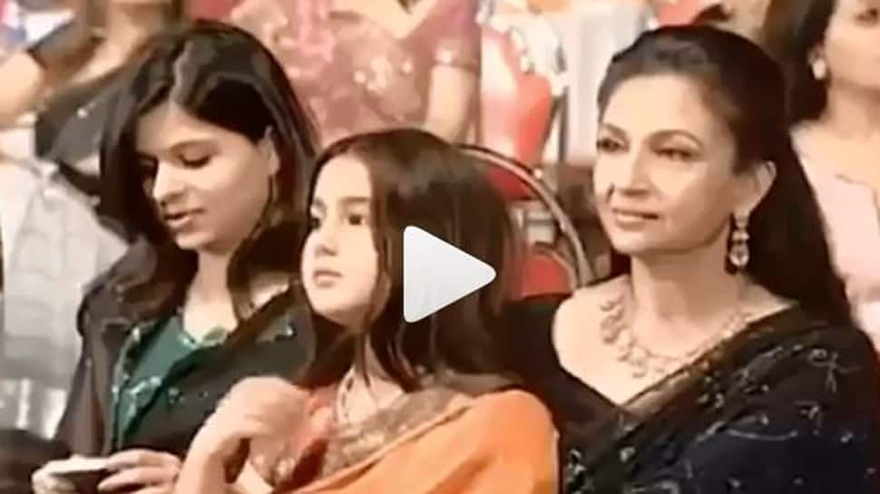 This video of young Sara Ali Khan with her grandmother Sharmila Tagore goes viral on social media-Watch