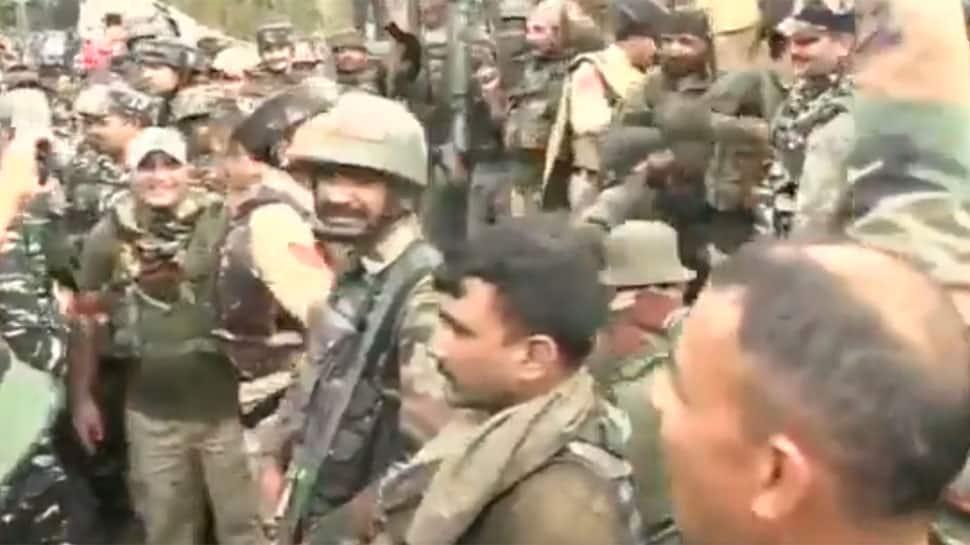 Indian troops celebrate, raise 'Bharat Mata Ki Jai' slogans after eliminating terrorists in Jammu and Kashmir's Ramban