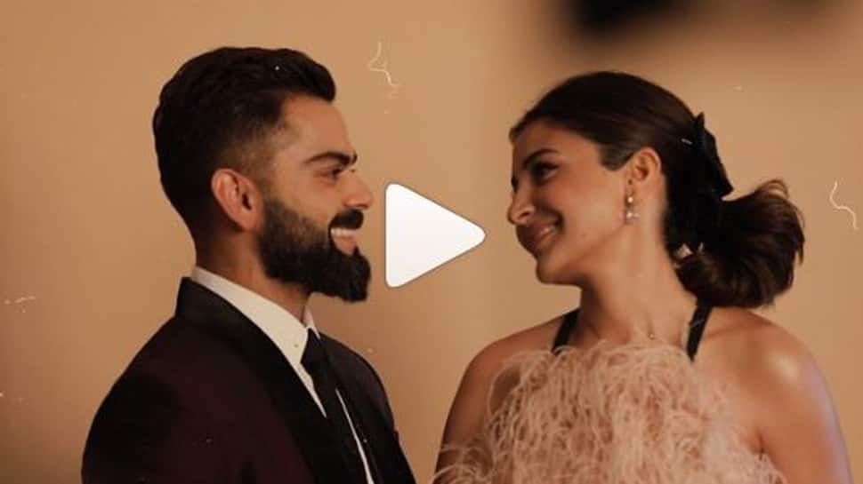 This BTS video of Virat Kohli-Anushka Sharma from Indian Sports Honours Awards reeks of fairytale love- Watch