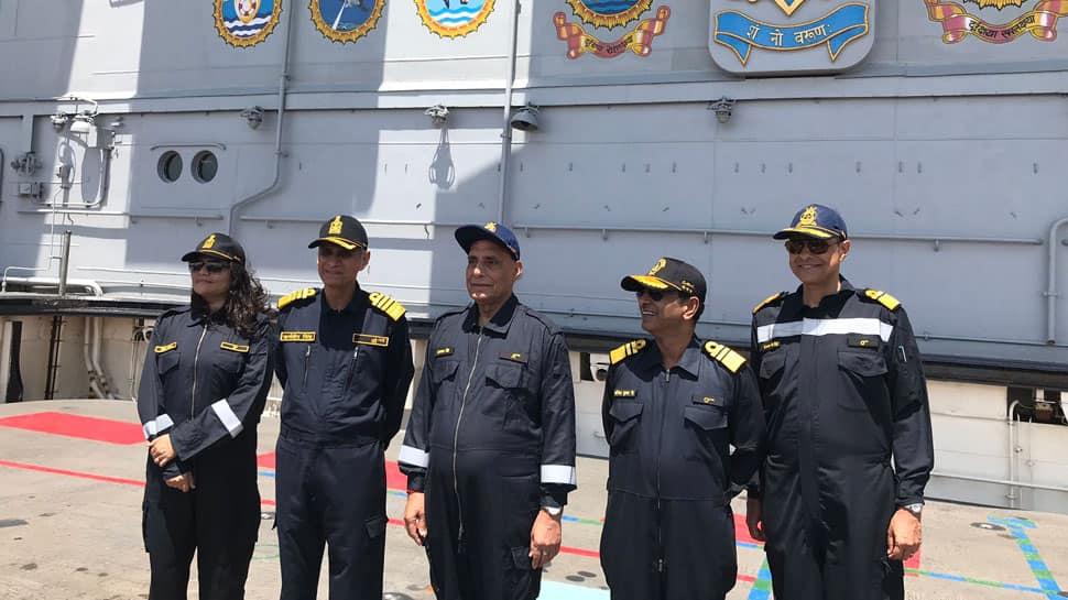 Defence Minister Rajnath Singh spends night onboard INS Vikramaditya, calls it 'Sikandar of Samundar'