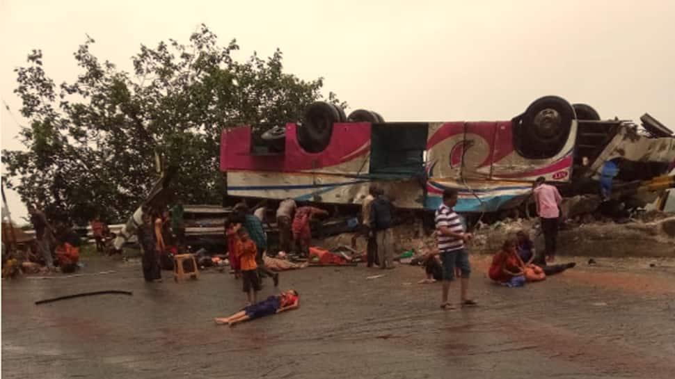Bus carrying 50 passengers turns turtle in Gujarat's Banaskantha, 21 feared dead