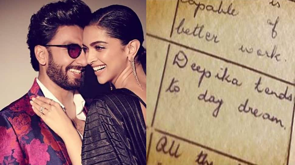 Deepika Padukone shares snippets of her school report card, Ranveer Singh posts hilarious comments