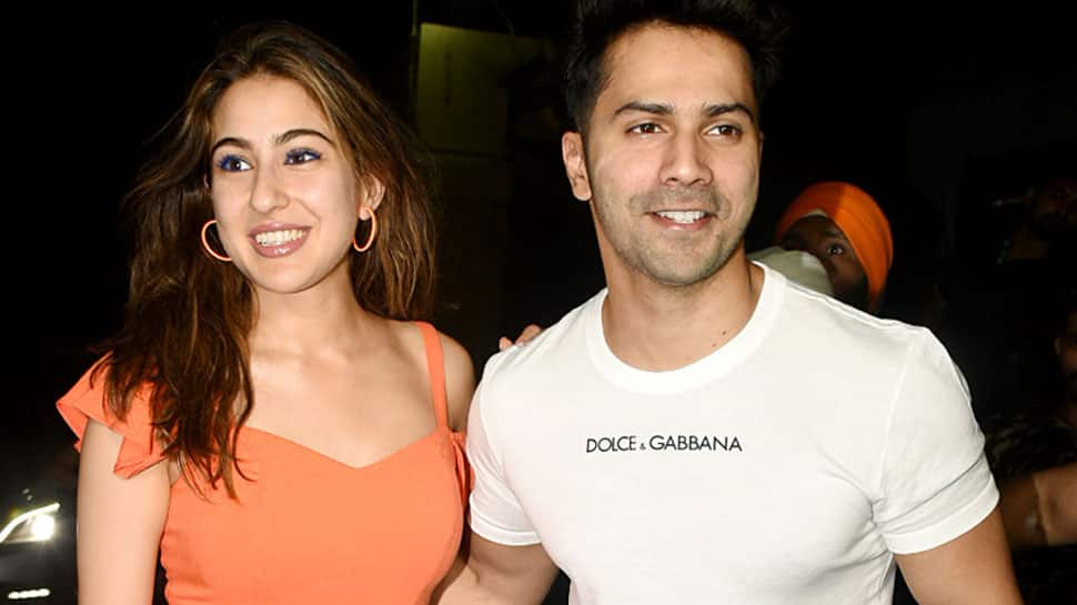Sara Ali Khan gets acting lessons from Varun Dhawan on 'Coolie No. 1' sets—Pic proof
