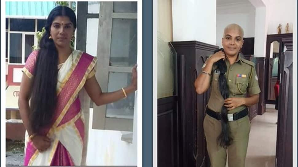 Kerala woman police officer shaves her head for cancer patients, pic goes viral