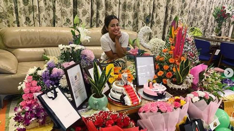 Hina Khan celebrates birthday with beau Rocky Jaiswal, friend Priyank Sharma