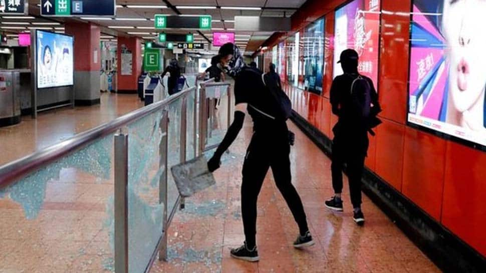 Hong Kong rail services to remain suspended after protestors vandalise MTR stations