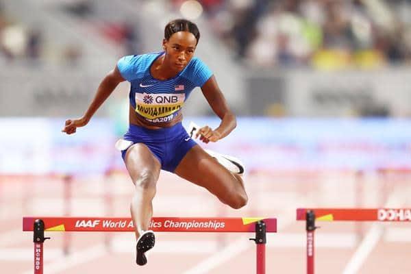World Athletics Championships: USA's Dalilah Muhammad snaps 400m hurdles world record to clinch gold