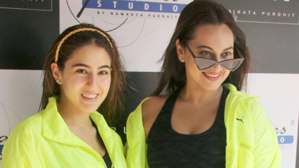 Sara Ali Khan, Sonakshi Sinha twin in neon and black—Pics