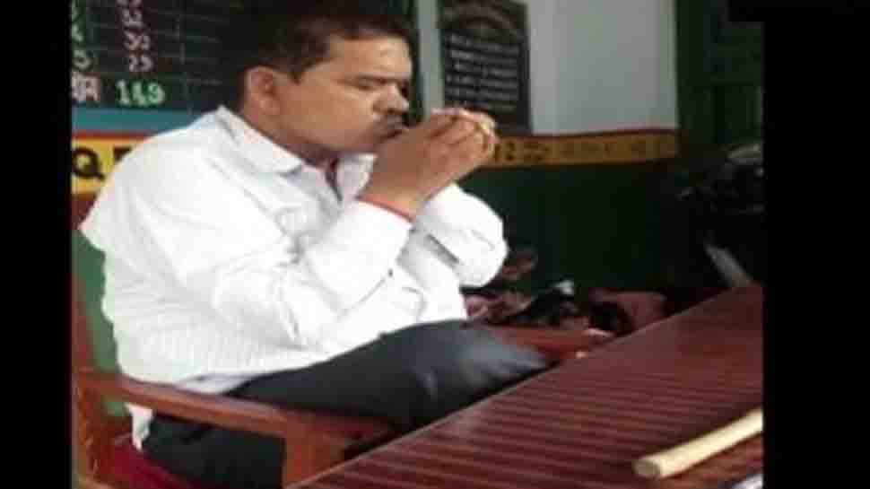 Teacher in UP suspended after video of him smoking in class goes viral