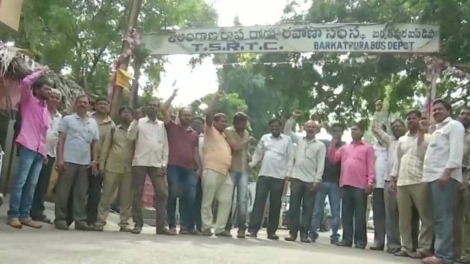 Buses remain off roads in Telangana as strike enters 2nd day