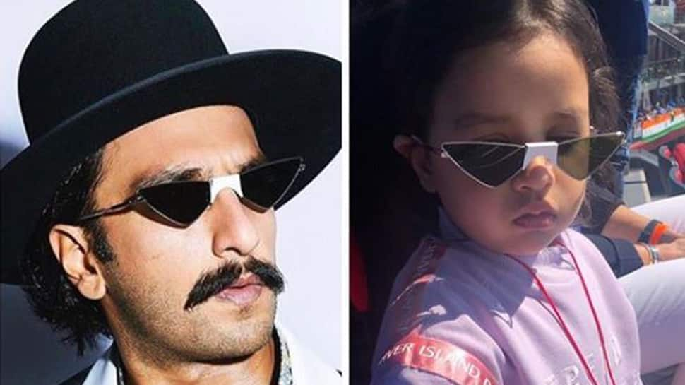 When MS Dhoni's daughter Ziva saw Ranveer wearing same glasses
