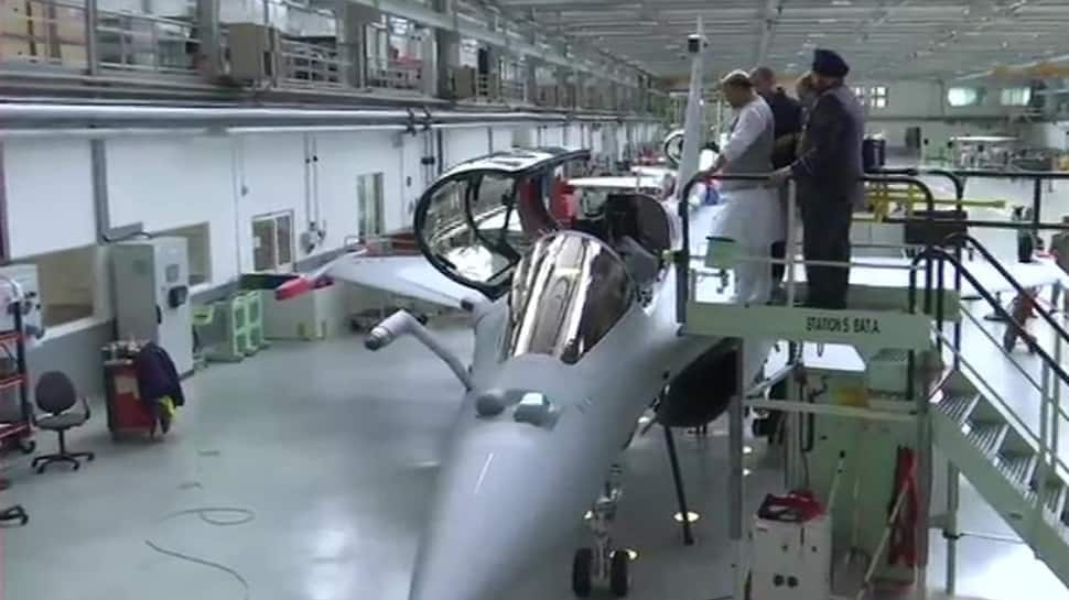 Defence Minister Rajnath Singh reaches Merignac to receive first Rafale jet on behalf of IAF