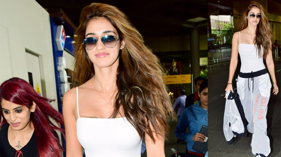 Disha Patani's airport look of the day is uber chic and comfortable - Photos