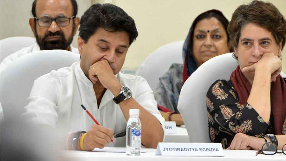Jyotiraditya Scindia finds place in poster with PM Modi, Amit Shah in Madhya Pradesh