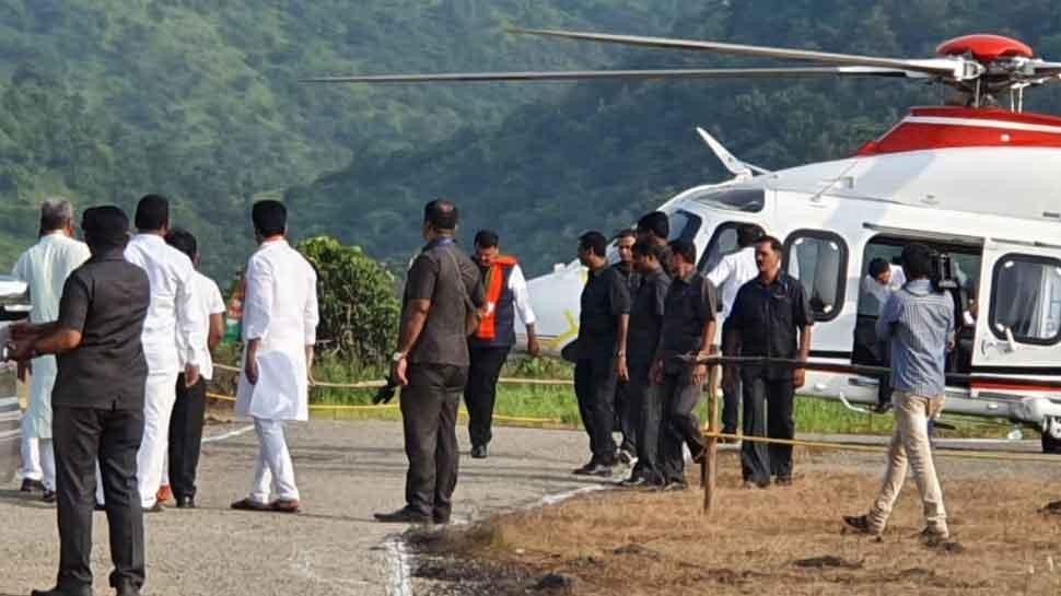 Chopper carrying Maharashtra CM Devendra Fadnavis skids while landing in Raigarh, all safe
