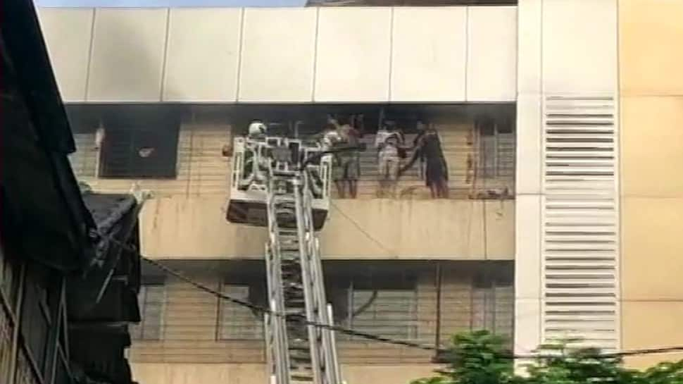 Fire breaks out at a residential building in Mumbai, all trapped persons rescued