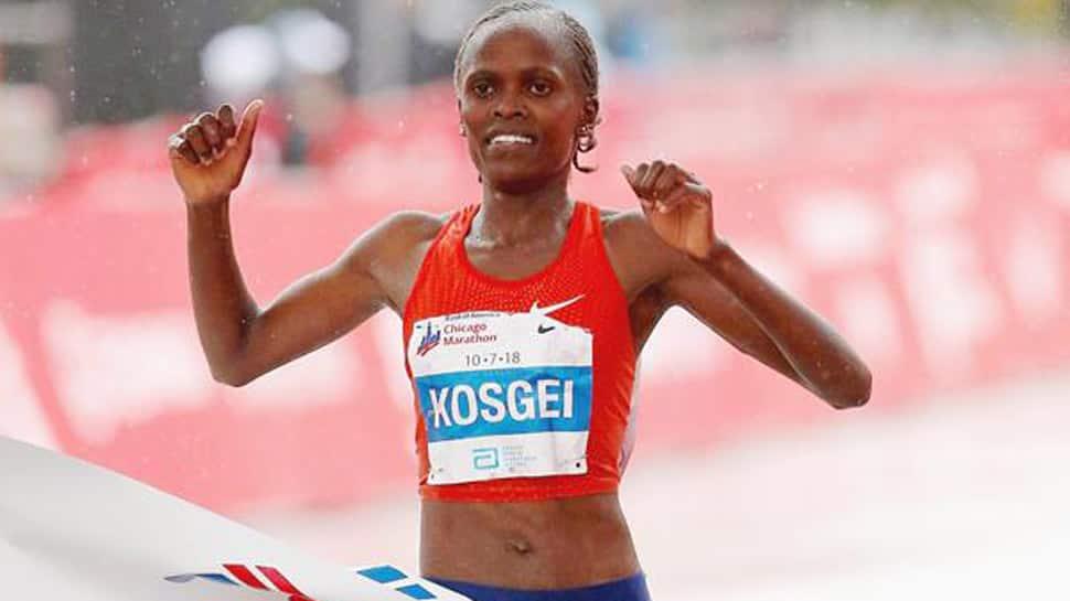 Kenya's Brigid Kosgei smashes Paula Radcliffe's marathon world record in Chicago