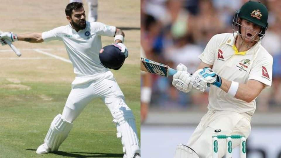 ICC Test Rankings: Virat Kohli closes in on top-ranked Steve Smith after scoring double ton