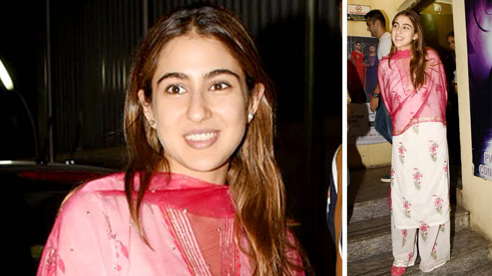 Sara Ali Khan catches a movie with friend, turns heads in desi avatar—Pics