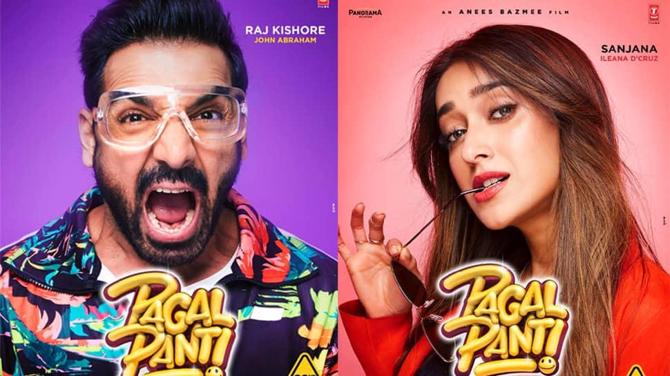 John Abraham, Ileana D'Cruz, Anil Kapoor, Arshad Warsi: Meet 'Pagalpanti' gang in character posters