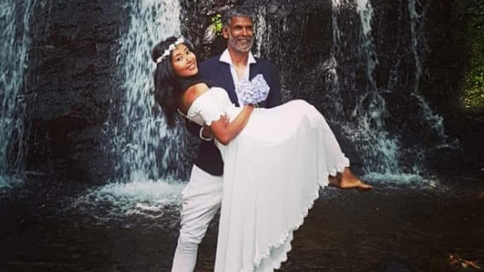 Milind Soman, wife Ankita Konwar vacay in Iceland - See pic