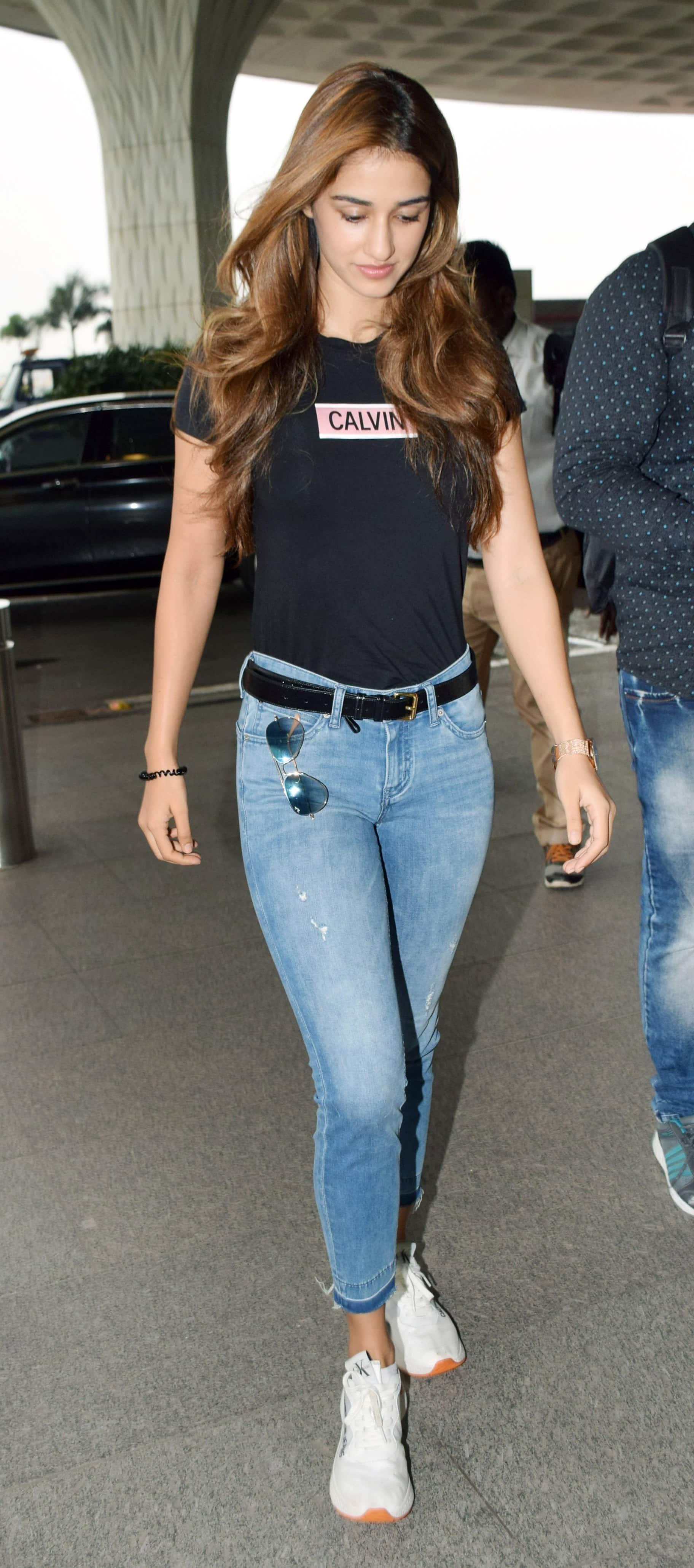 Disha Patani spotted at the airport