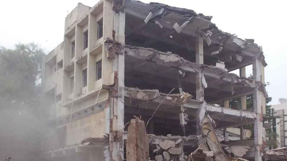 Image result for building collapsed in gujrat vadodra
