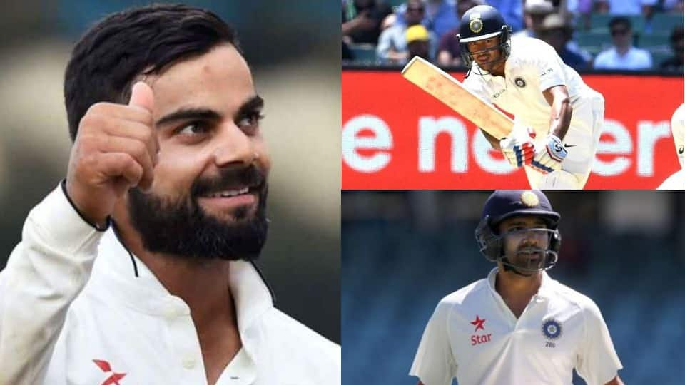 Mayank Agarwal, Virat Kohli, Rohit Sharma become first 3 Indian batsmen to score double ton in same Test series