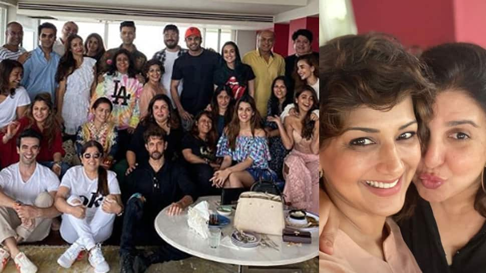 This pic from Farah Khan's Sunday lunch calls for a freeze frame!
