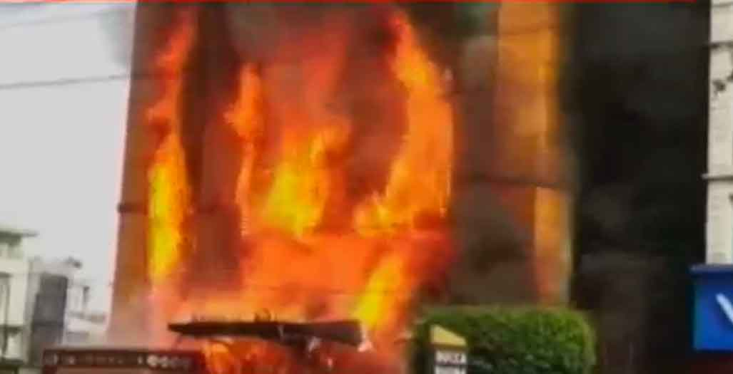 Massive fire breaks out in 5-storey hotel in Indore, several feared trapped