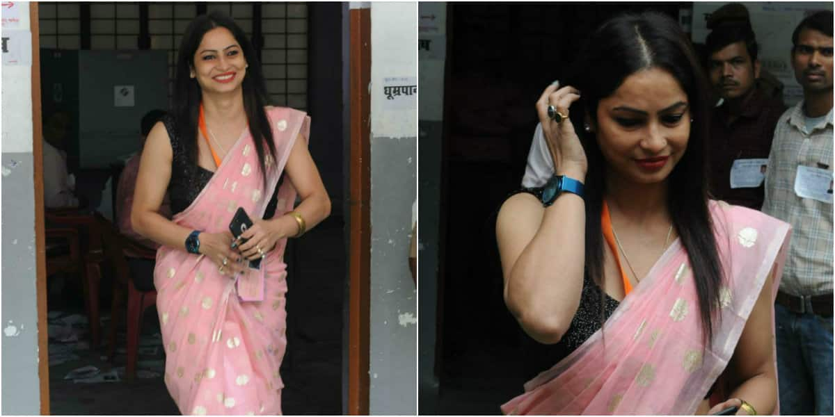 Yellow sari-fame poll official Reena Dwivedi breaks the internet again; this time in pink