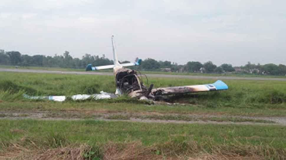 Trainee aircraft crashes in Amethi, pilot escapes unhurt