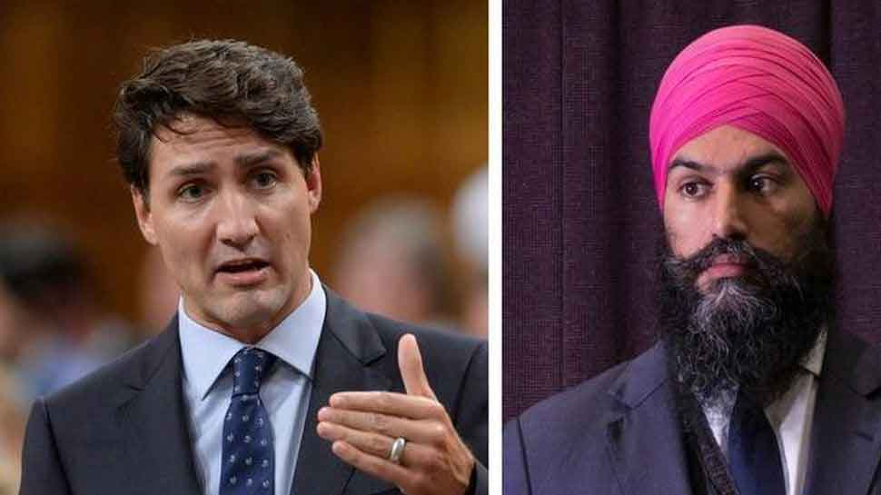 Justin Trudeau's party wins polls in Canada but Sikh leader Jagmeet Singh is the new kingmaker