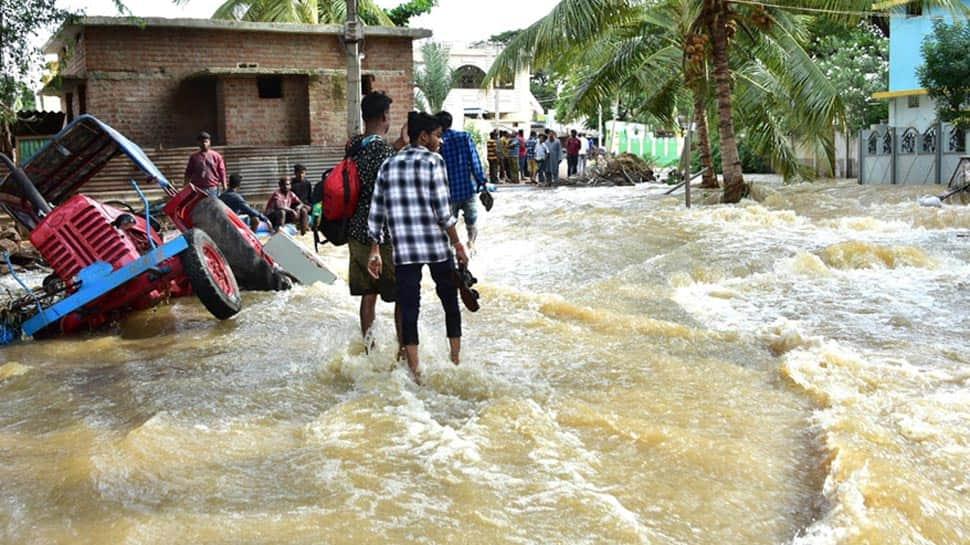 After criticism from locals, Karnataka Minister CC Patil visits flood-affected village in Gadag