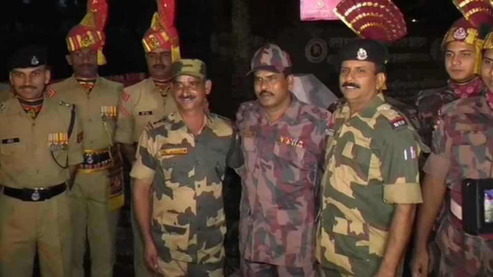 India, Bangladesh troops exchange Diwali sweets at Akhaura