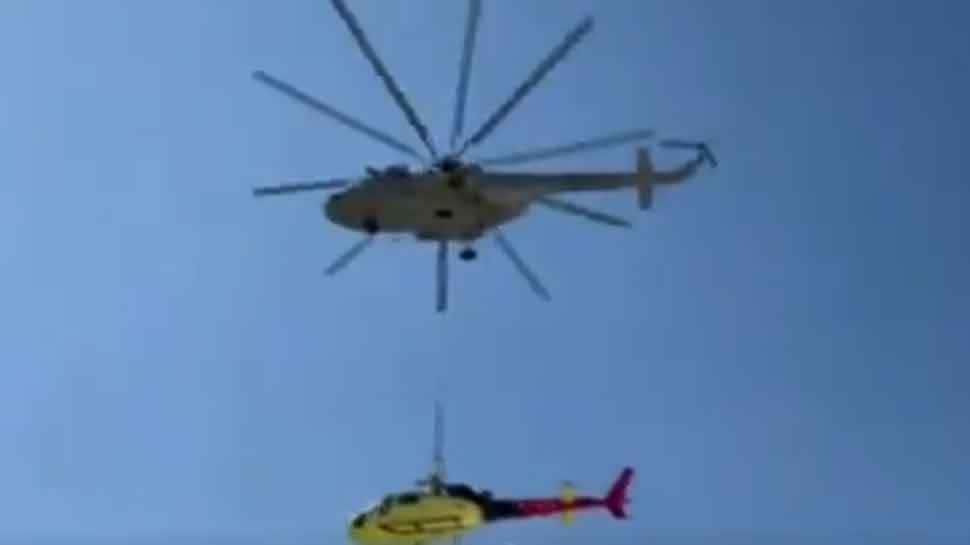 IAF helicopters evacuate crashed civilian chopper from Kedarnath