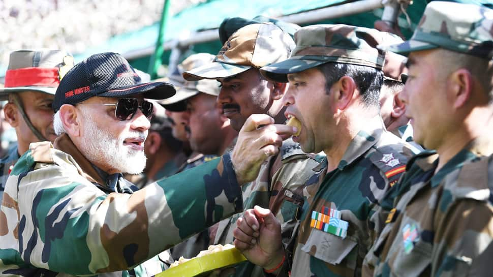 PM Modi calls soldiers his family, praises them for keeping border safe