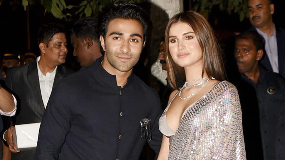 Rumoured lovebirds Tara Sutaria-Aadar Jain attend Amitabh Bachchan's Diwali bash