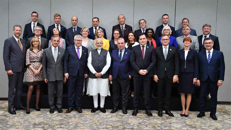 European parliamentarians meet PM Modi, to visit Jammu and Kashmir on Tuesday