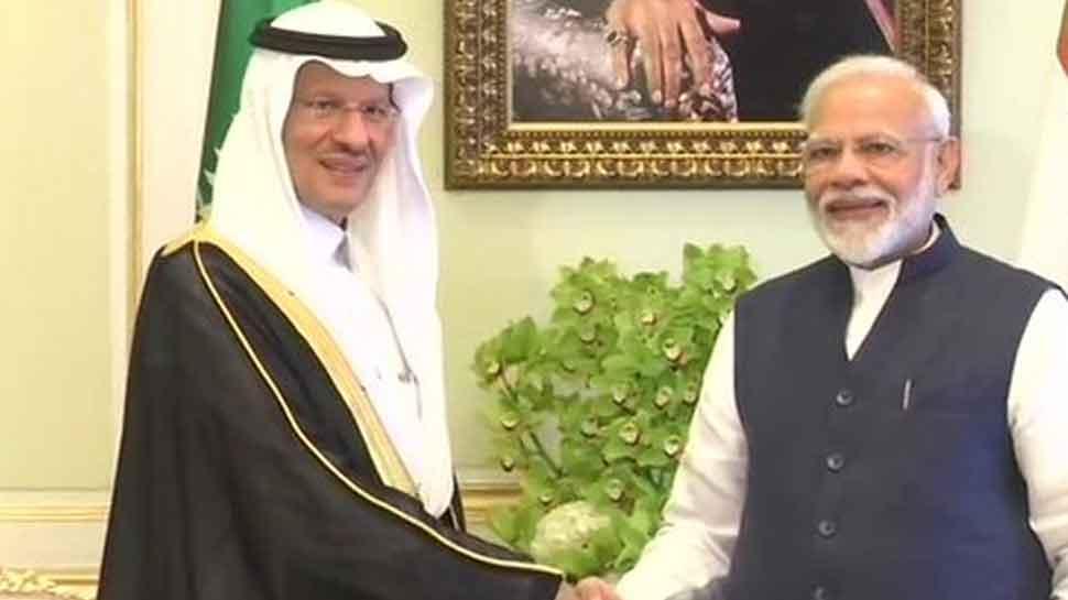 Prime Minister Narendra Modi meets Saudi Arabia energy minister Abdulaziz bin