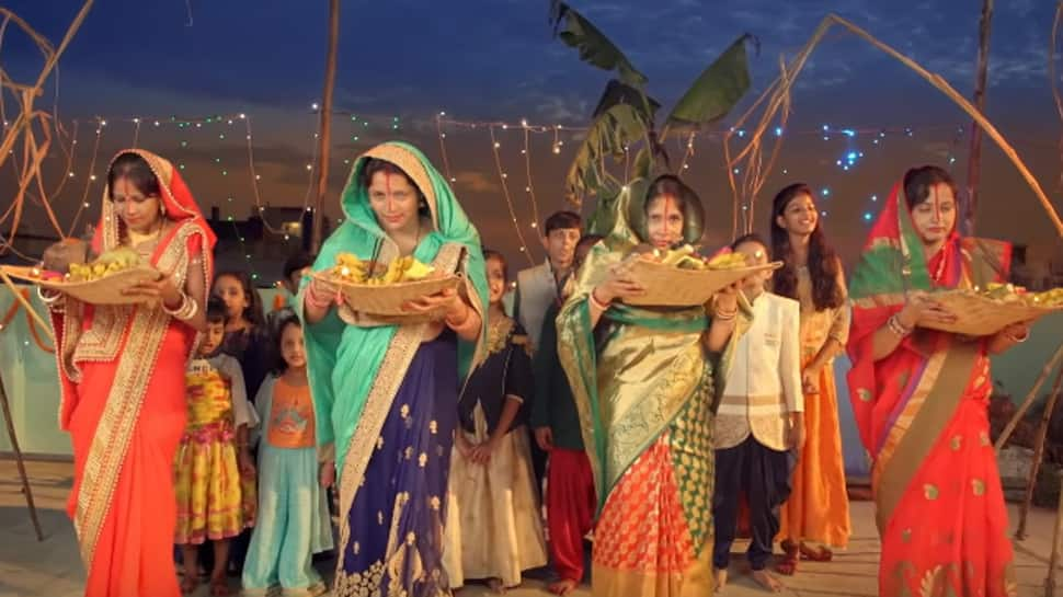 Chhath Puja Geet 2019—Watch Kanch Hi Bansh Ke by Neetu Chandra productions