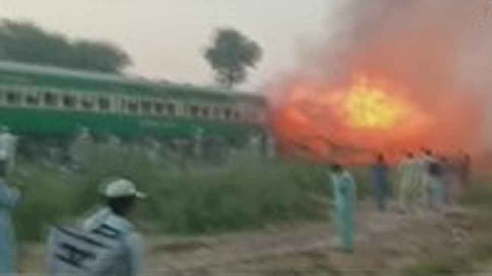 62 passengers dead, over 40 injured as train catches fire in Pakistan