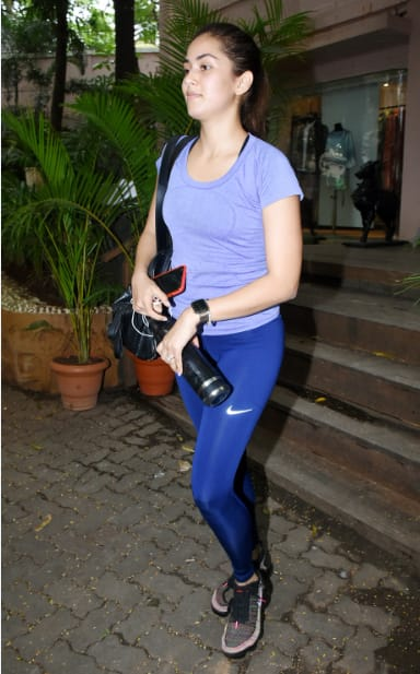 Mira Rajput after her gym sess