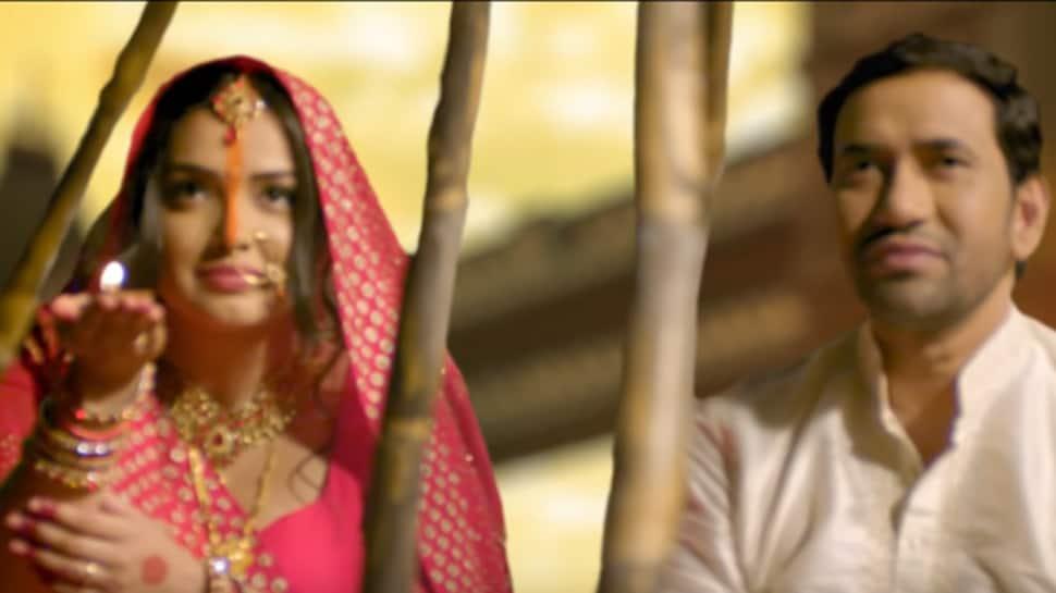 Chhath Geet 2019: Aamrapali Dubey-Nirahua's 'Pahile Pahile Baani Kaile Chhathi Maiya' song - Watch