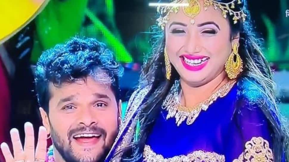 Rani Chatterjee shares a pic with Khesari Lal Yadav from the sets of Bigg Boss 13